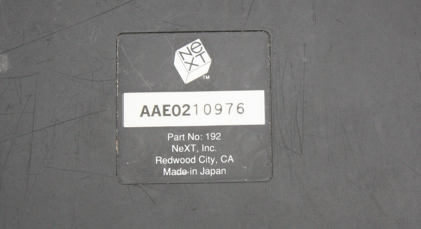 NeXT Non-ADB - AAE Label Close Up