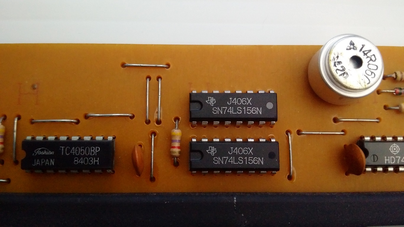 Zenith ZFA keyboard - PCB components
