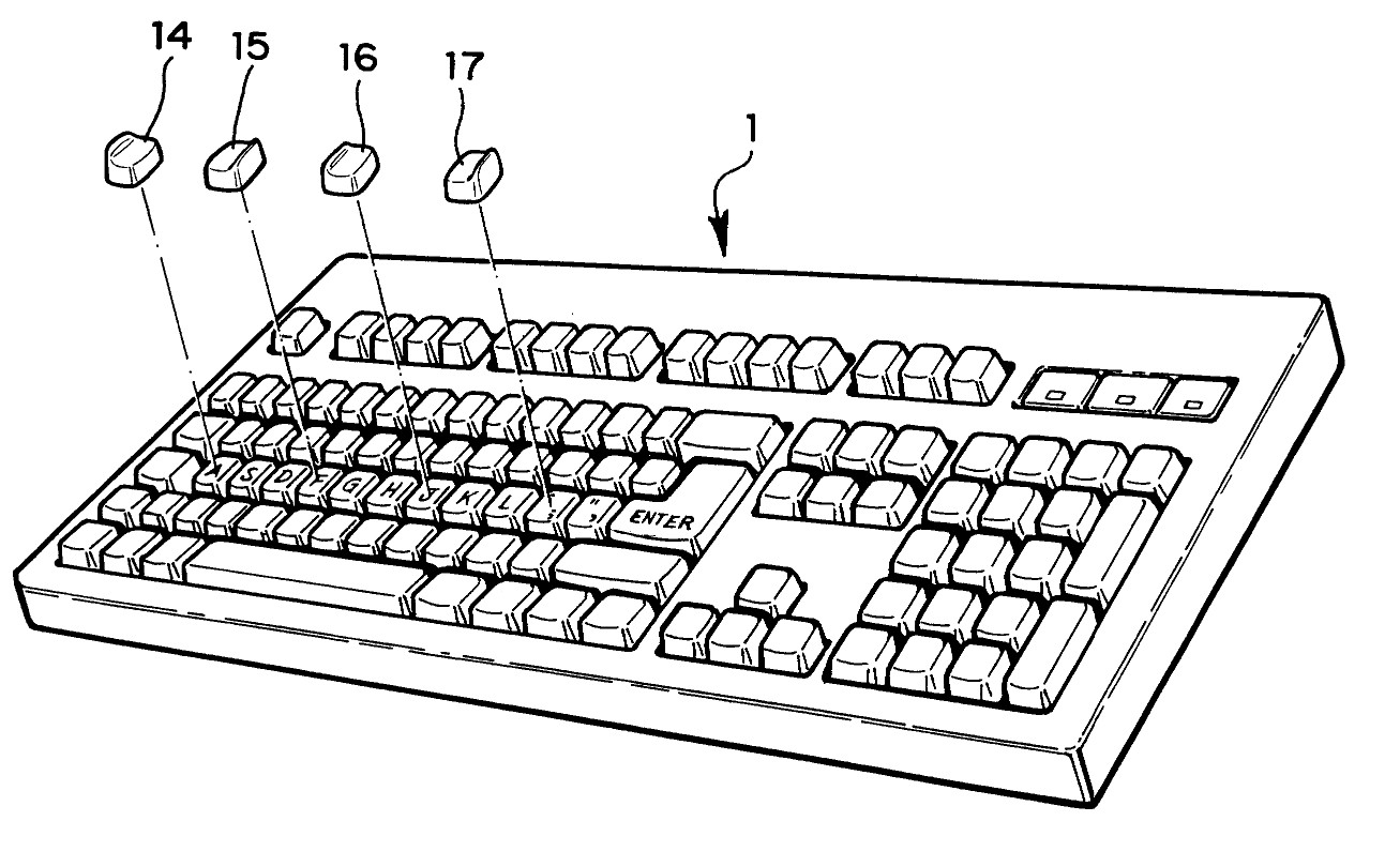 Modified homing keys by June E. Botich (US6667697)