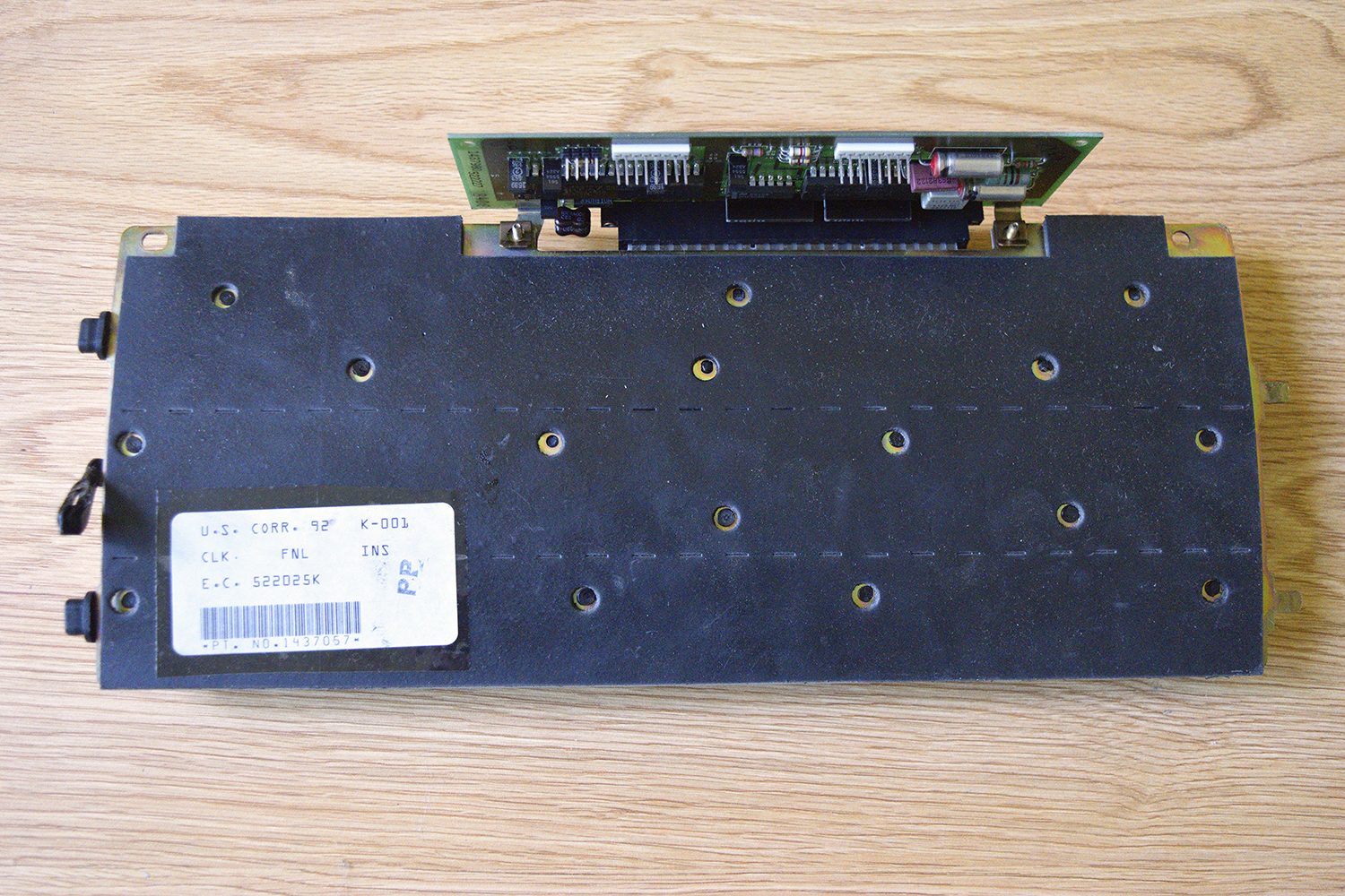IBM 95 -- Keyboard bottom w/ thick rubber mat over backplate