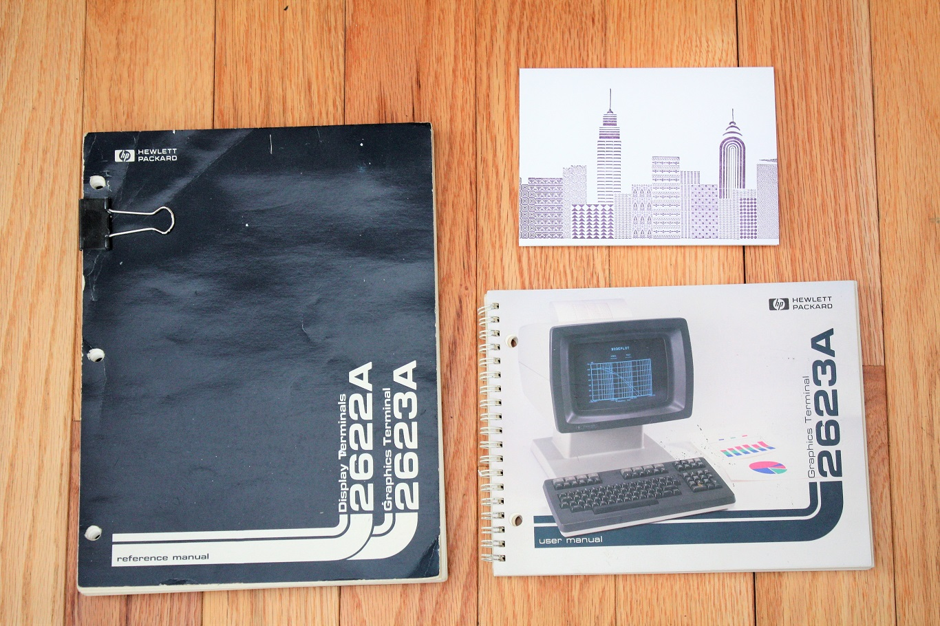 Hewlett Packard 2623A - manuals and Secret Santa card