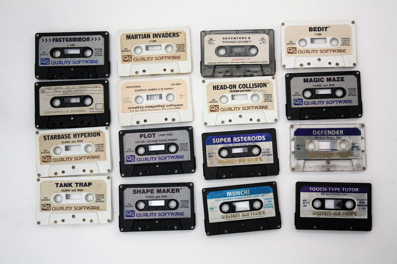 Exidy Sorcerer I - data cassettes.JPG