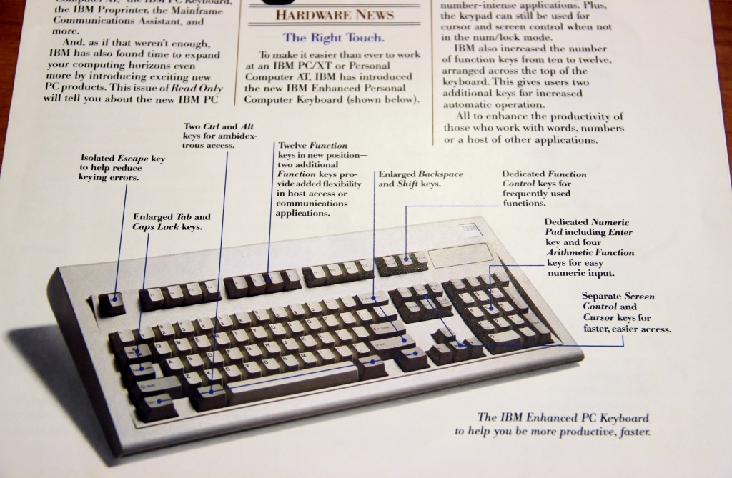 IBM model M enhanced keyboard