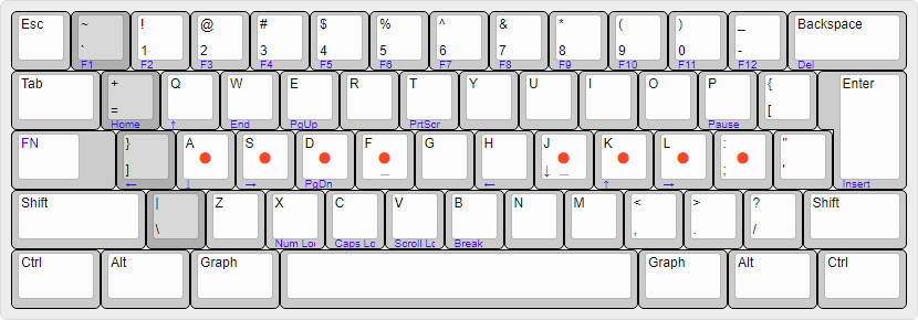 A possible 60% version of the right shifted US (ex-ANSI) keyboard layout.