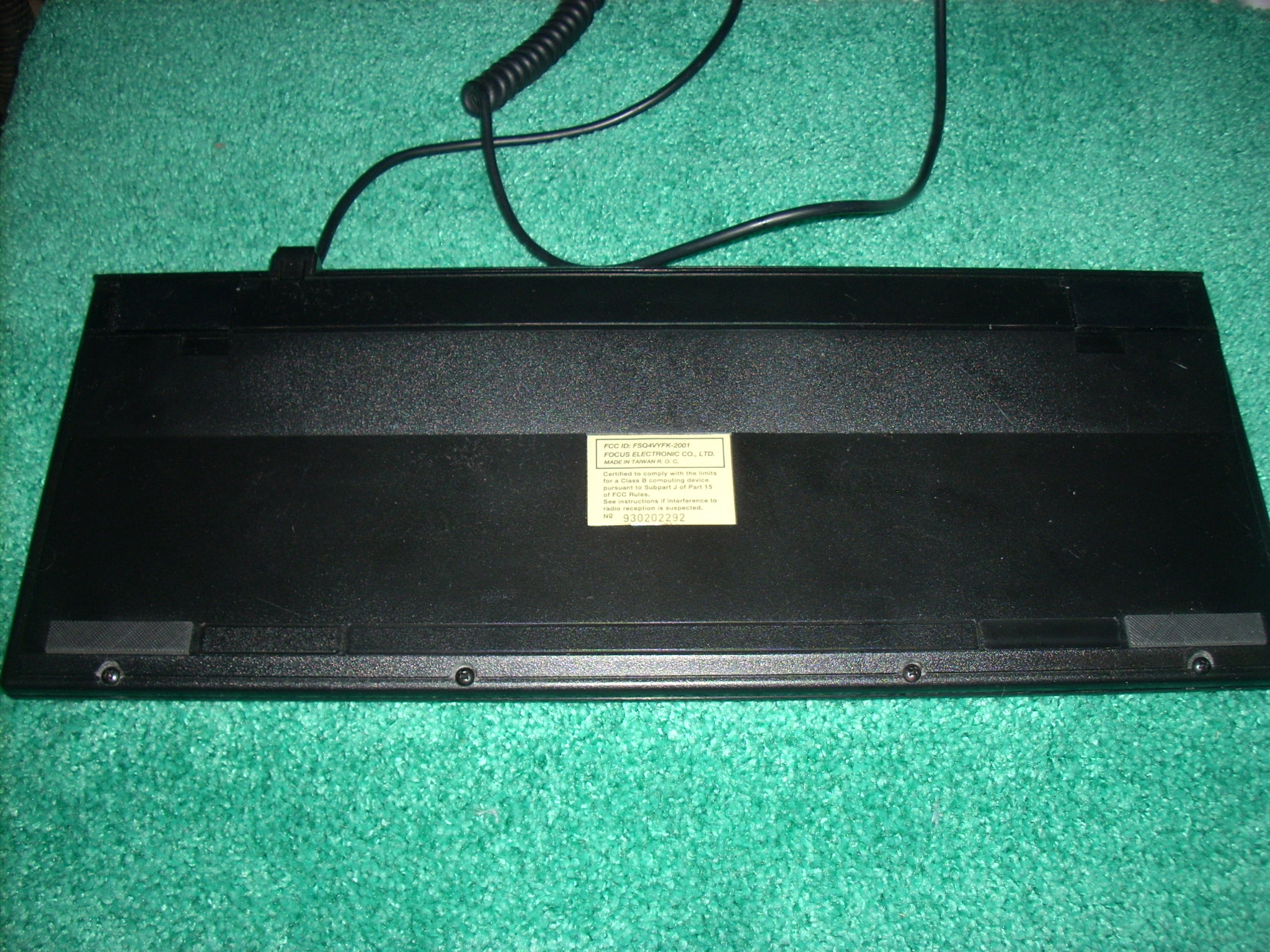 four new screws across lower edge