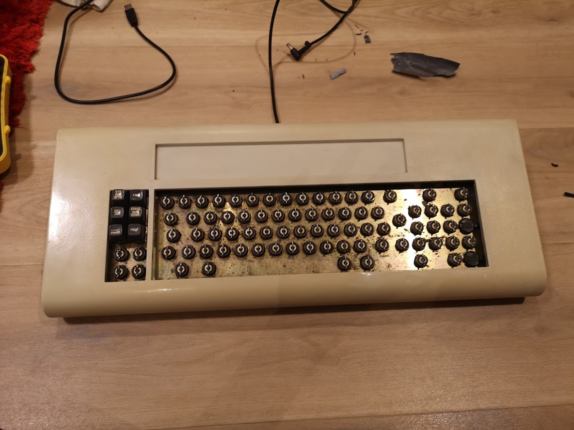 top case put back on and starting to put the keycaps back on.jpg