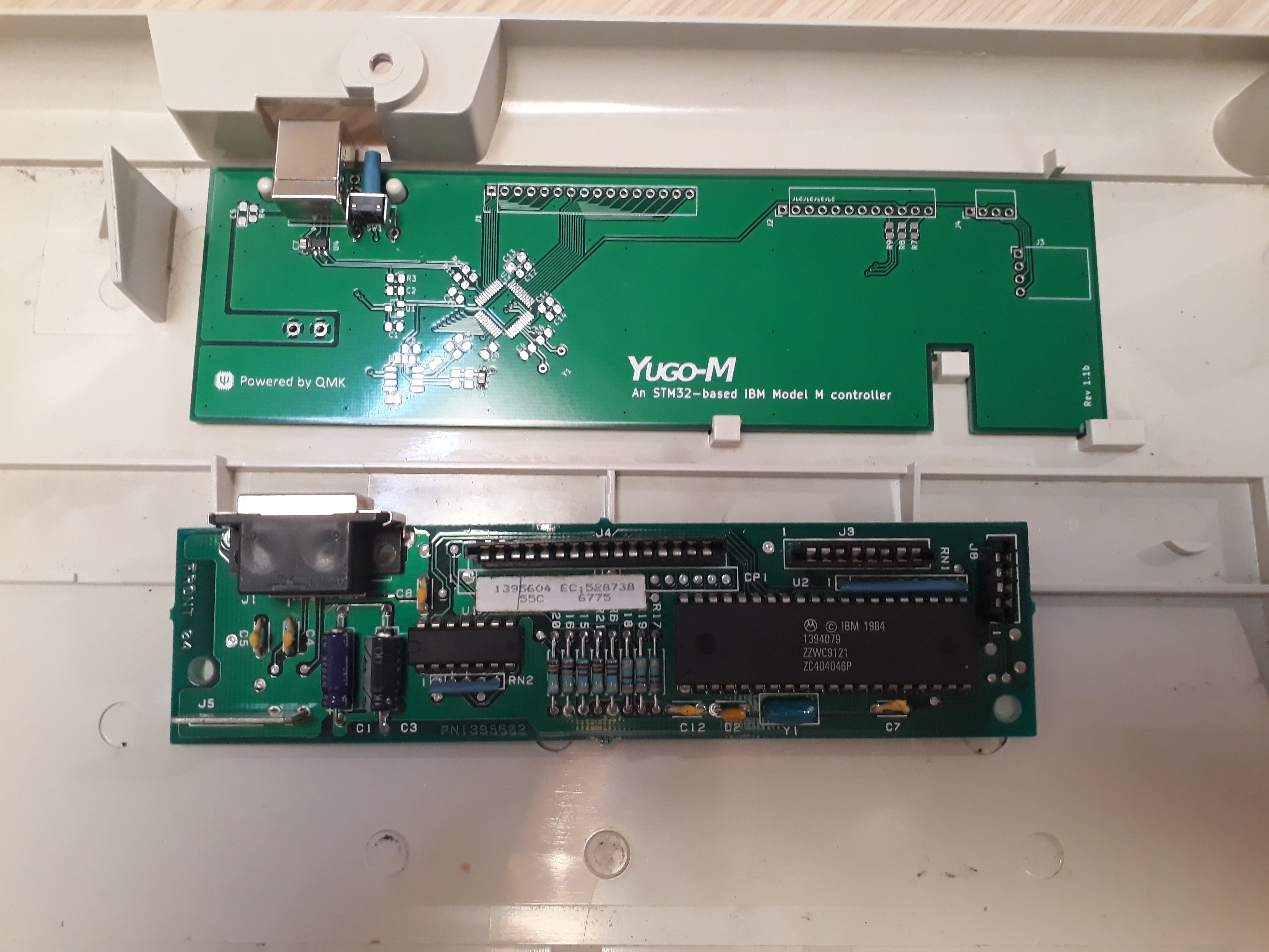 Compared to the original PCB which is a smaller variant.